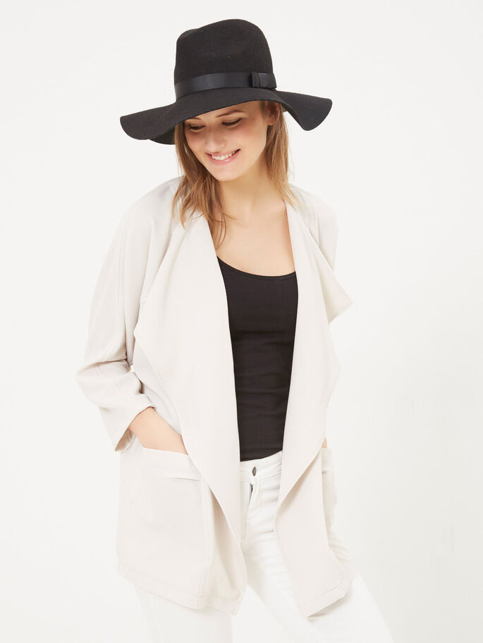 DRAPED BLAZER, Moonbeam, large