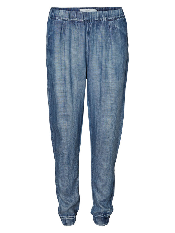 LOOSE-FIT- HOSE, Dark Blue Denim, large