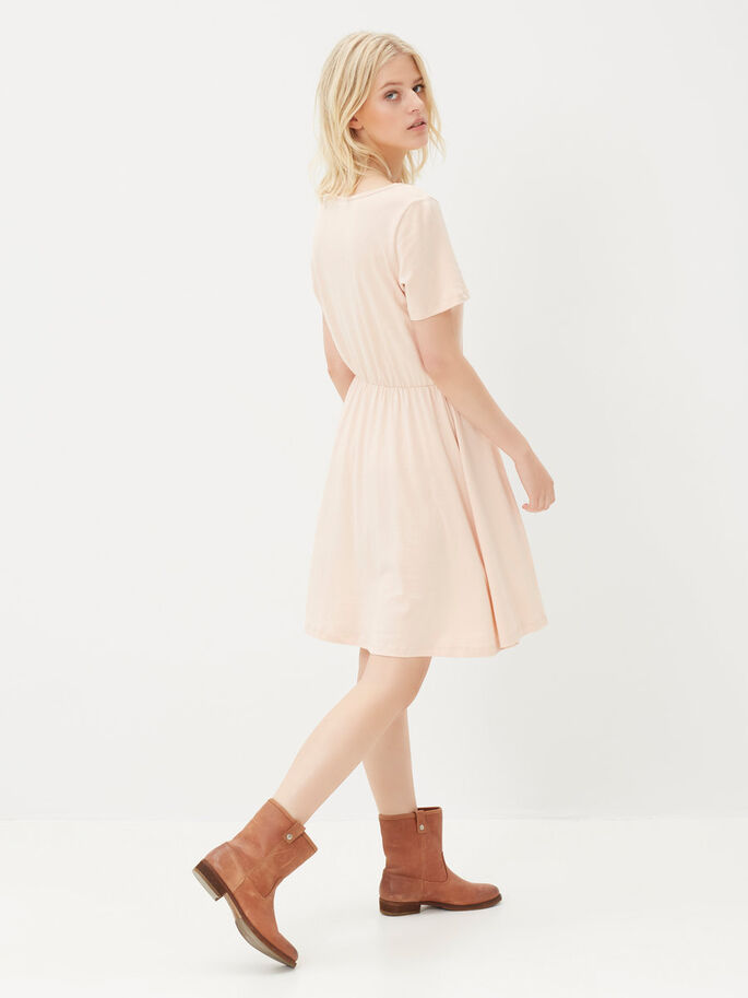 MANCHES COURTES ROBE, Rose Dust, large