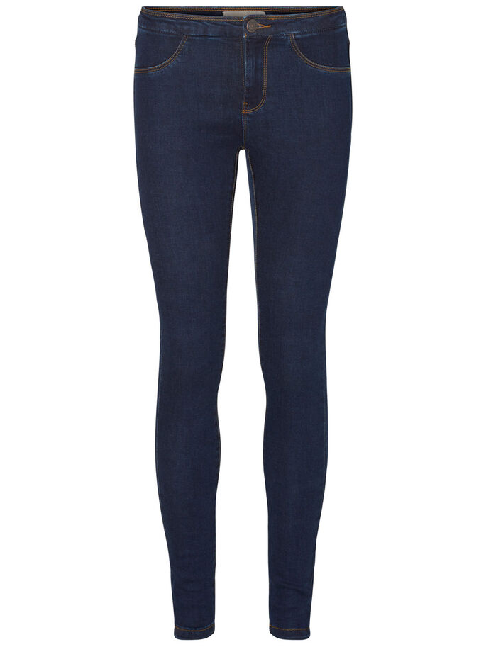 NW SKINNY FIT JEGGINGS, Dark Blue Denim, large