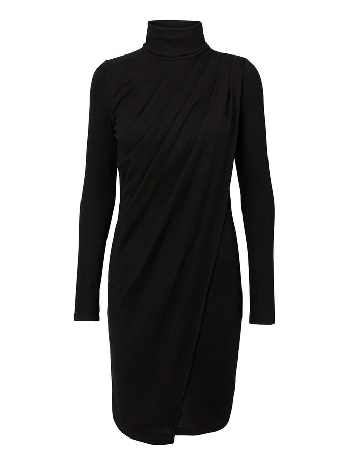HIGH-NECK KLEID, Black, large