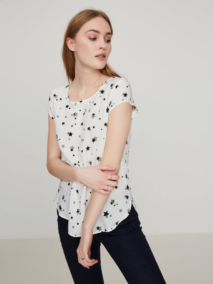 CASUAL SHORT SLEEVED TOP, Snow White, large