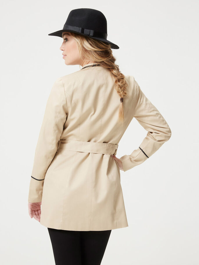 KORT TRENCHCOAT, Stocking Beige, large