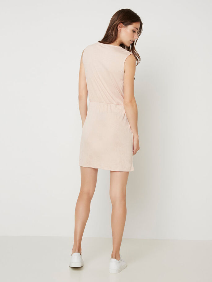 SLEEVELESS SHORT DRESS, Rose Dust, large
