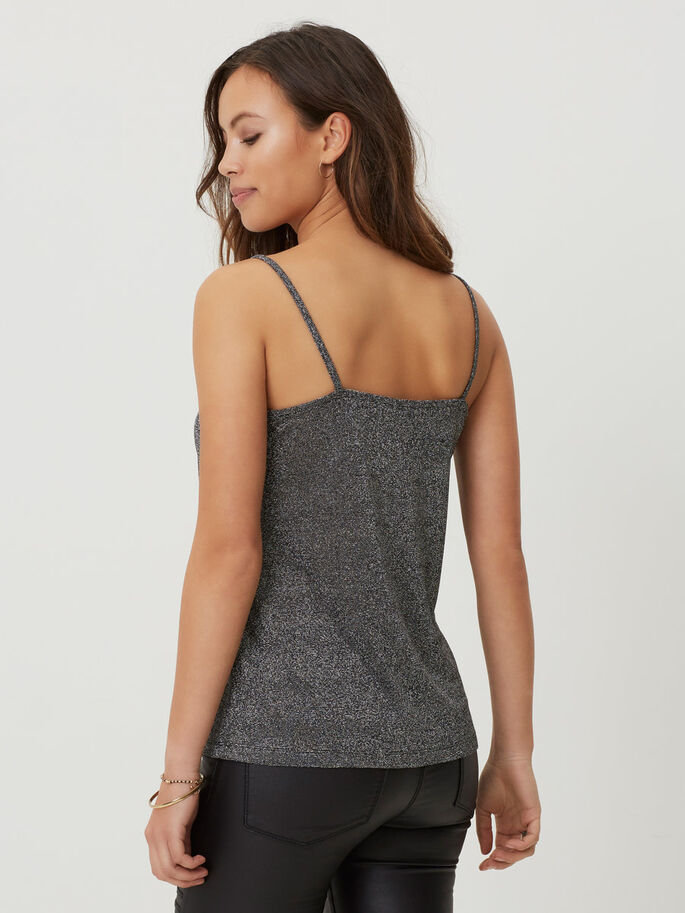 CAMI SLEEVELESS TOP, Black, large