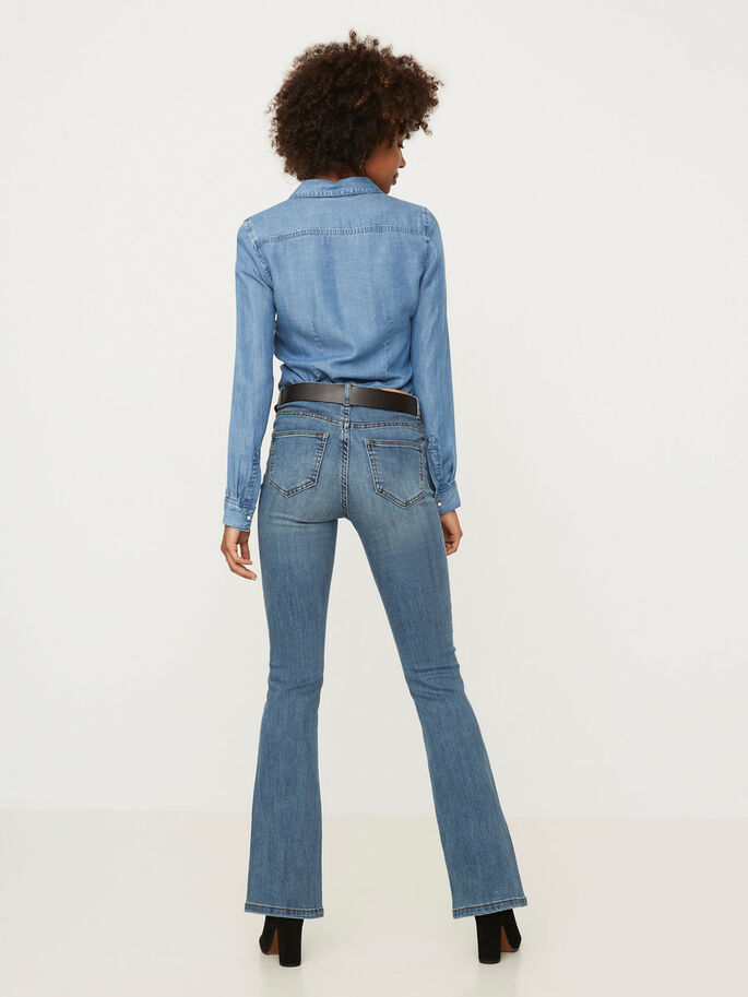 KIMBRA NW JEAN ÉVASÉ, Medium Blue Denim, large