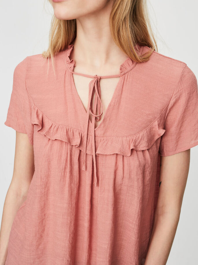 DETAILED SHORT SLEEVED TOP, Desert Sand, large