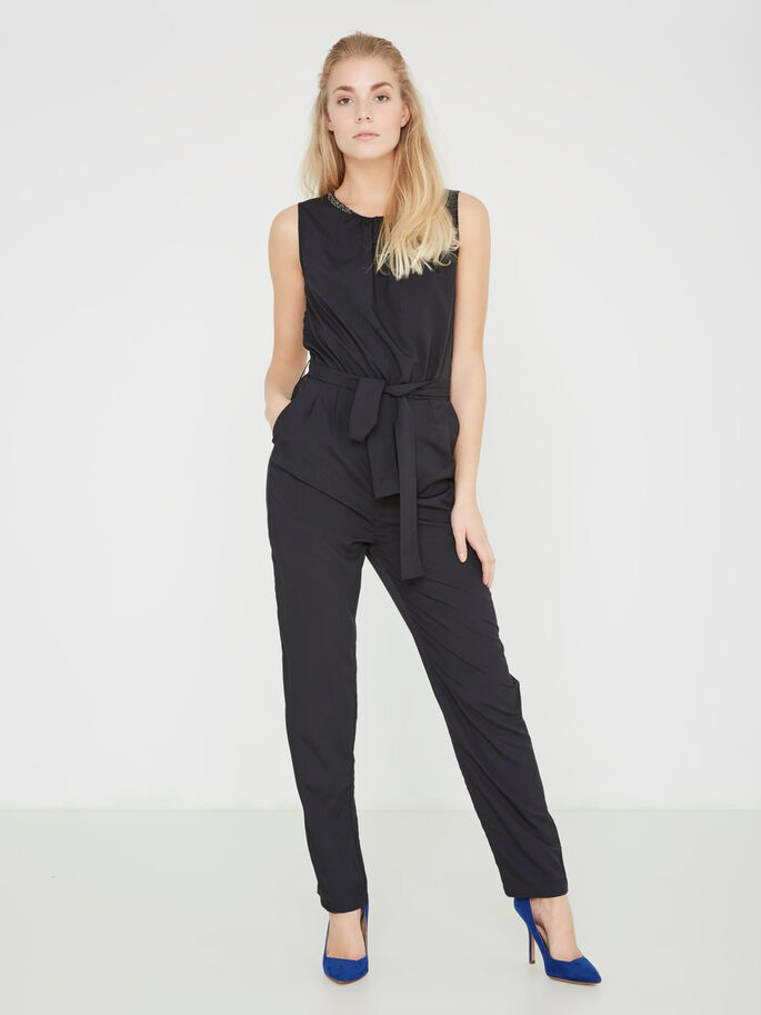 SLEEVELESS JUMPSUIT, Black Beauty, large