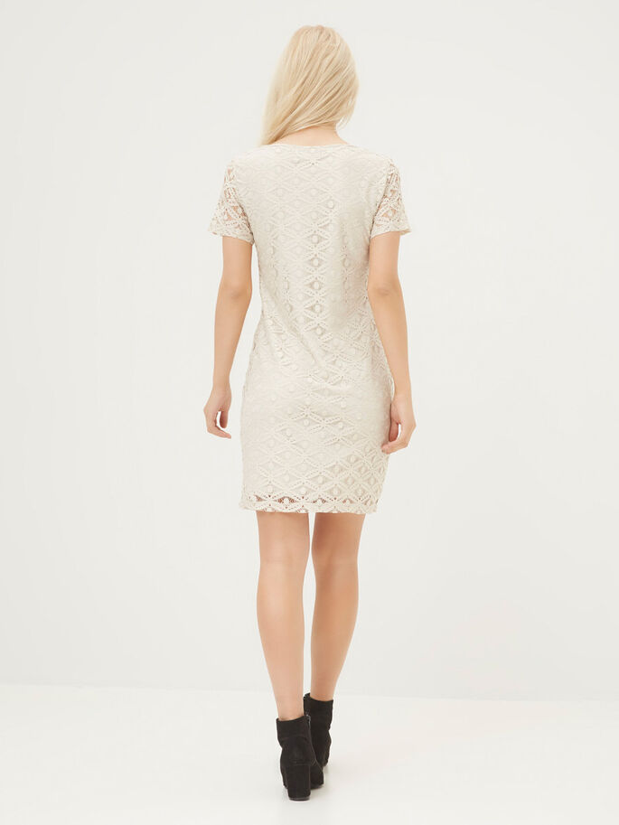 LACED DRESS, Moonbeam, large