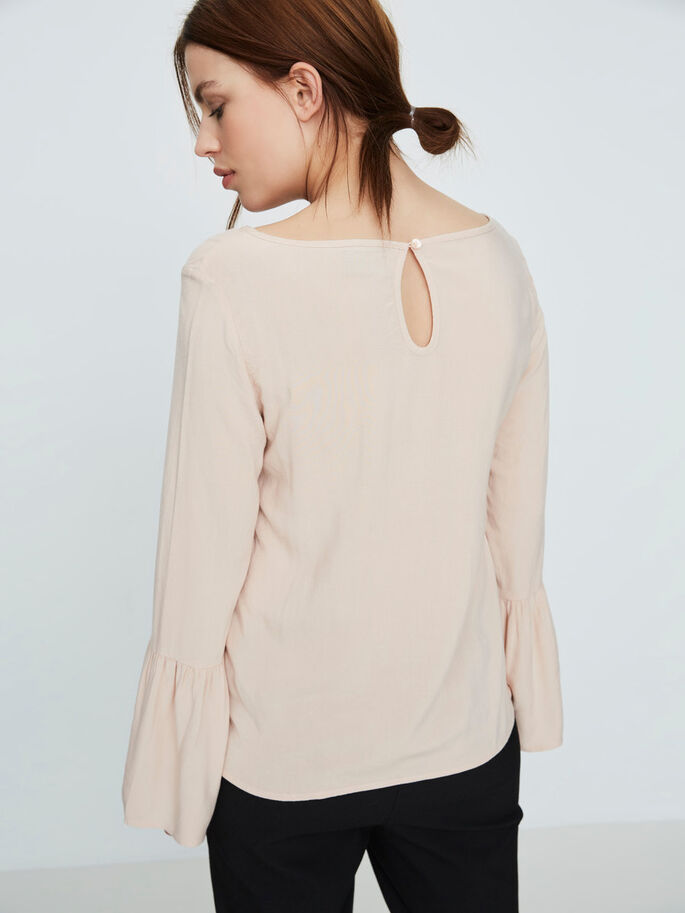 DETAILED LONG SLEEVED BLOUSE, Cameo Rose, large