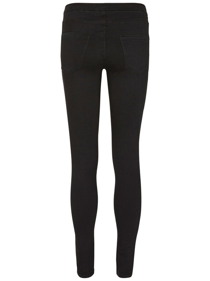 NW SKINNY FIT JEGGINGS, Black, large