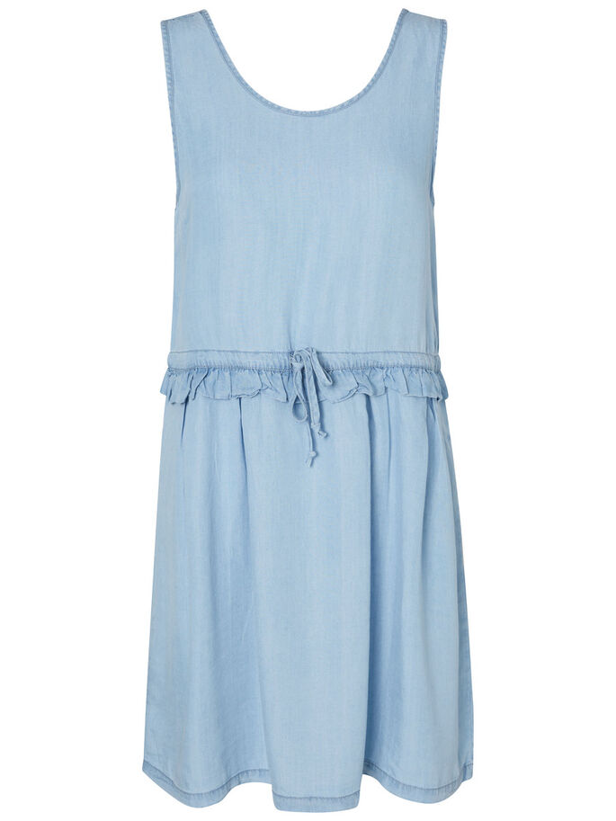 FEMININES KLEID OHNE ÄRMEL, Light Blue Denim, large