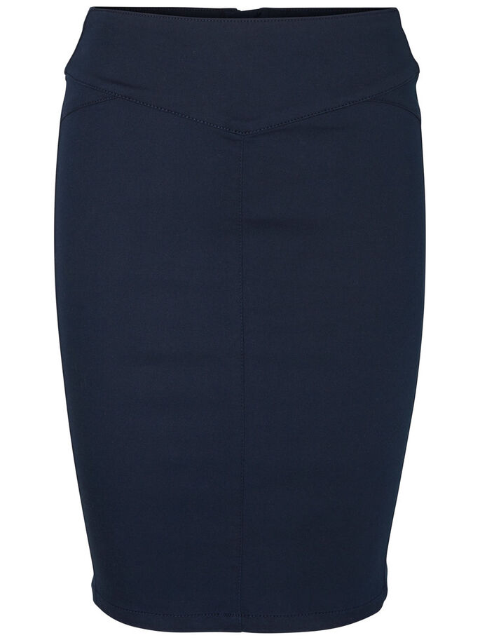 HIGH WAIST PENCIL SKIRT, Navy Blazer, large