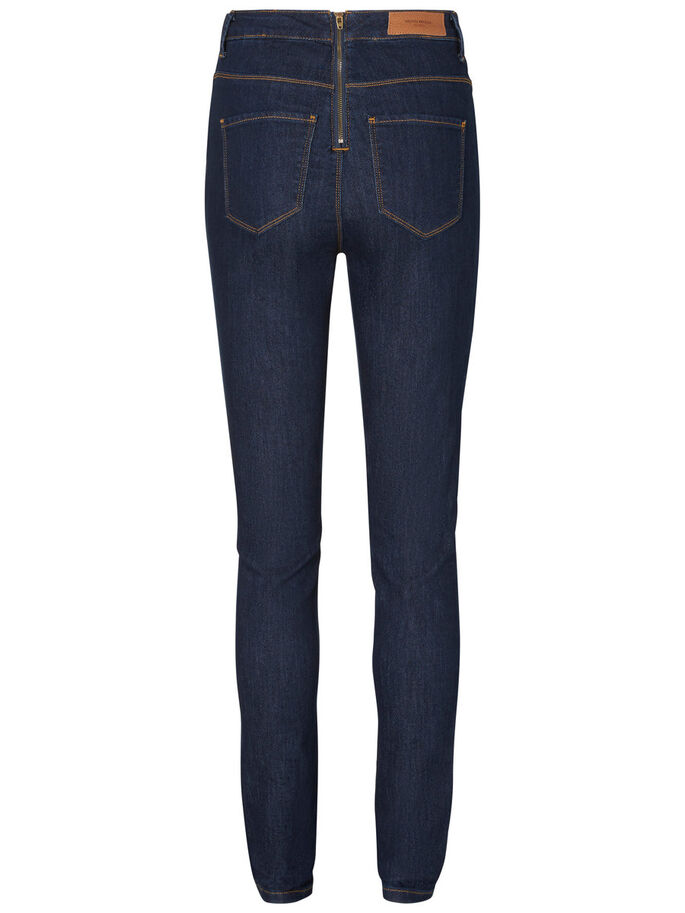 NINE HW JEAN SKINNY, Dark Blue Denim, large