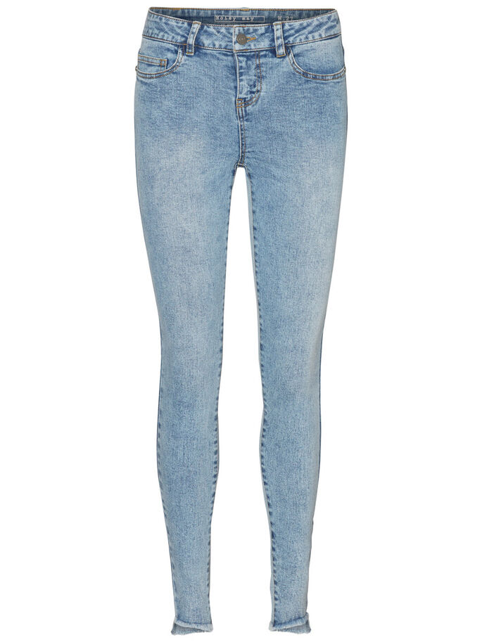 LUCY NW ANKLE JEANS, Light Blue Denim, large