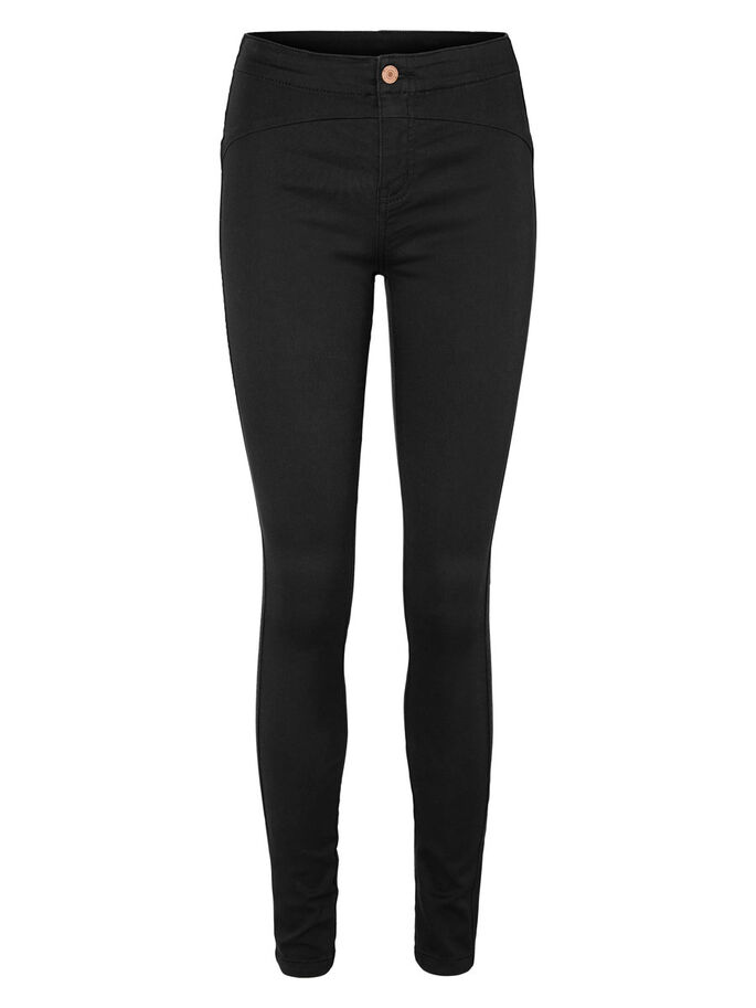 HIGH-WAIST TROUSERS, Black, large