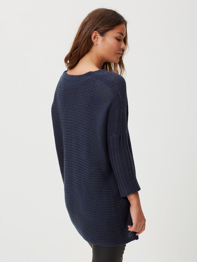 LOOSE FIT KNITTED PULLOVER, Total Eclipse, large