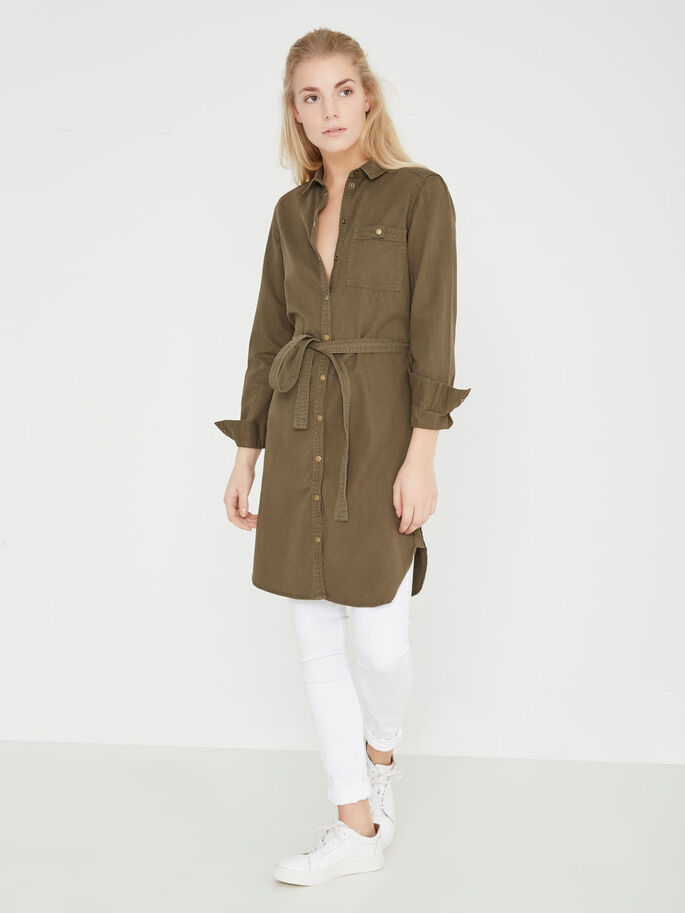 SHIRT DRESS, Ivy Green, large