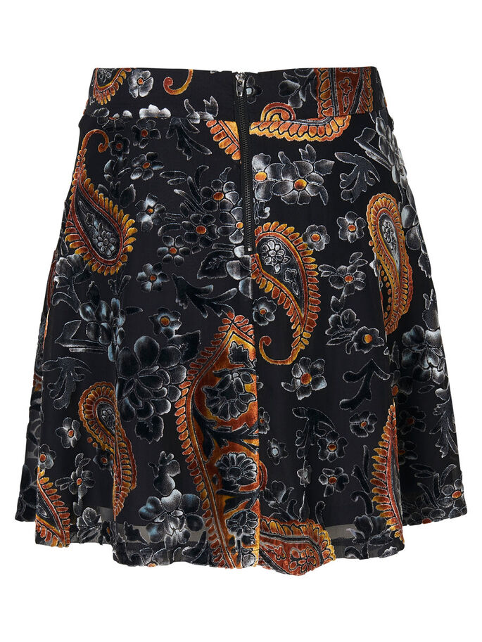 PRINTED SKIRT, Black, large