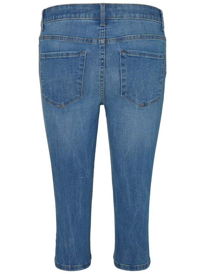 SEVEN NW CAPRIS, Medium Blue Denim, large