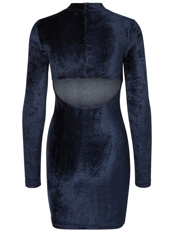 VELOURS ROBE COURTE, Navy Blazer, large