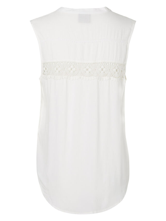 LACE SLEEVELESS TOP, Snow White, large