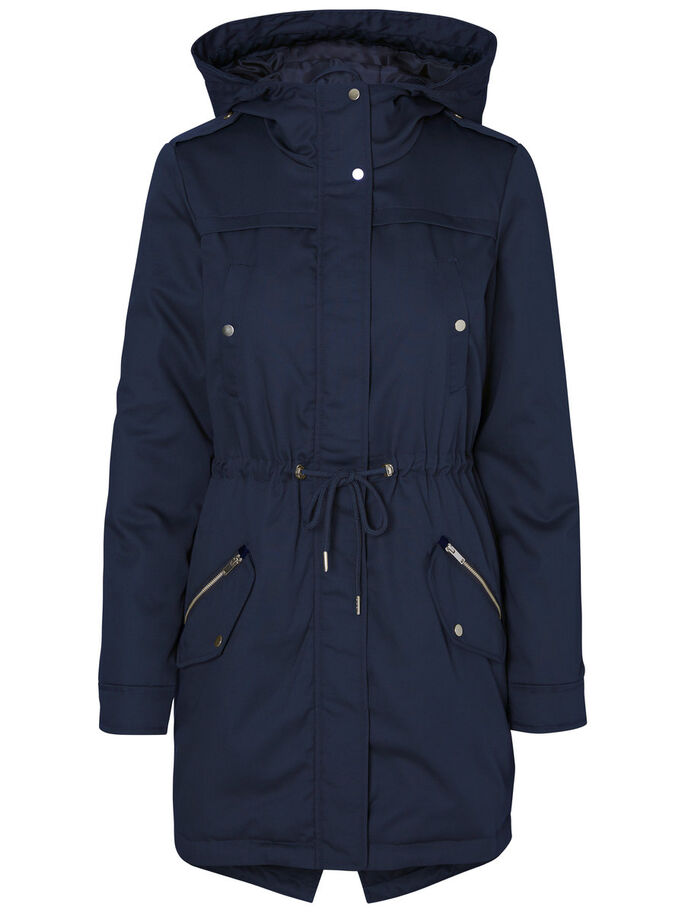 TRANSITIONAL PARKA COAT, Navy Blazer, large