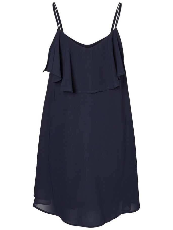 FEMININE SLEEVELESS DRESS, Navy Blazer, large