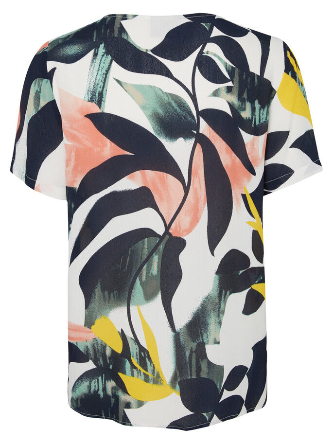 GRAPHIC SHORT SLEEVED TOP, Pristine, large