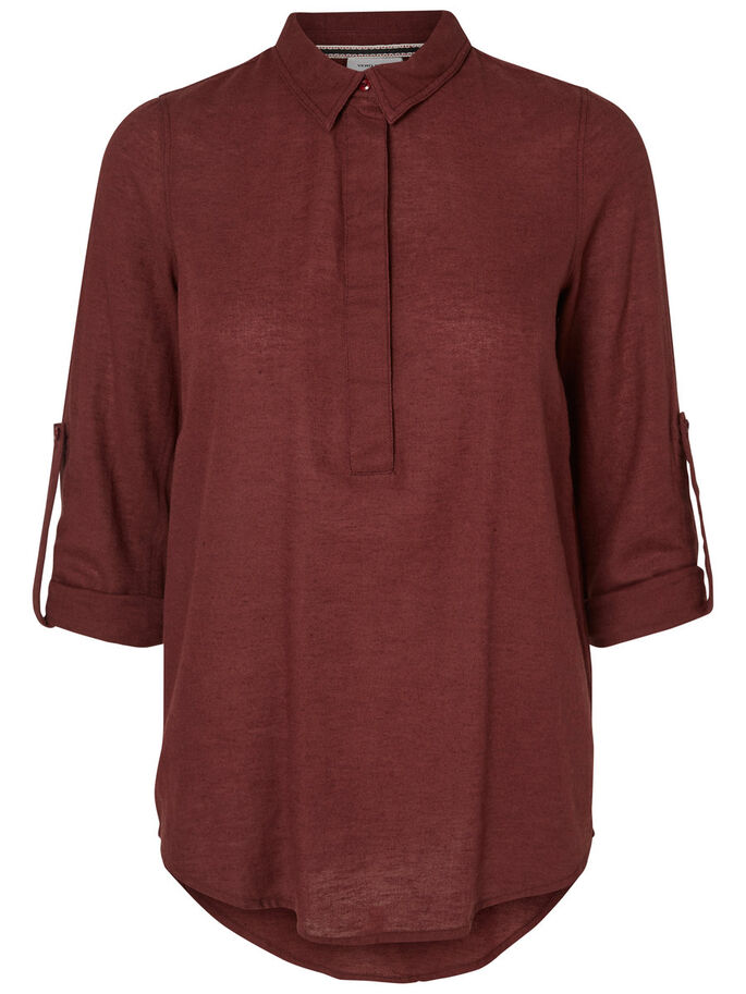 LONG SLEEVED SHIRT, Decadent Chocolate, large