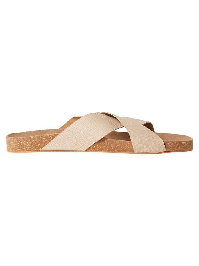 LEATHER SANDALS, Rose Dust, large