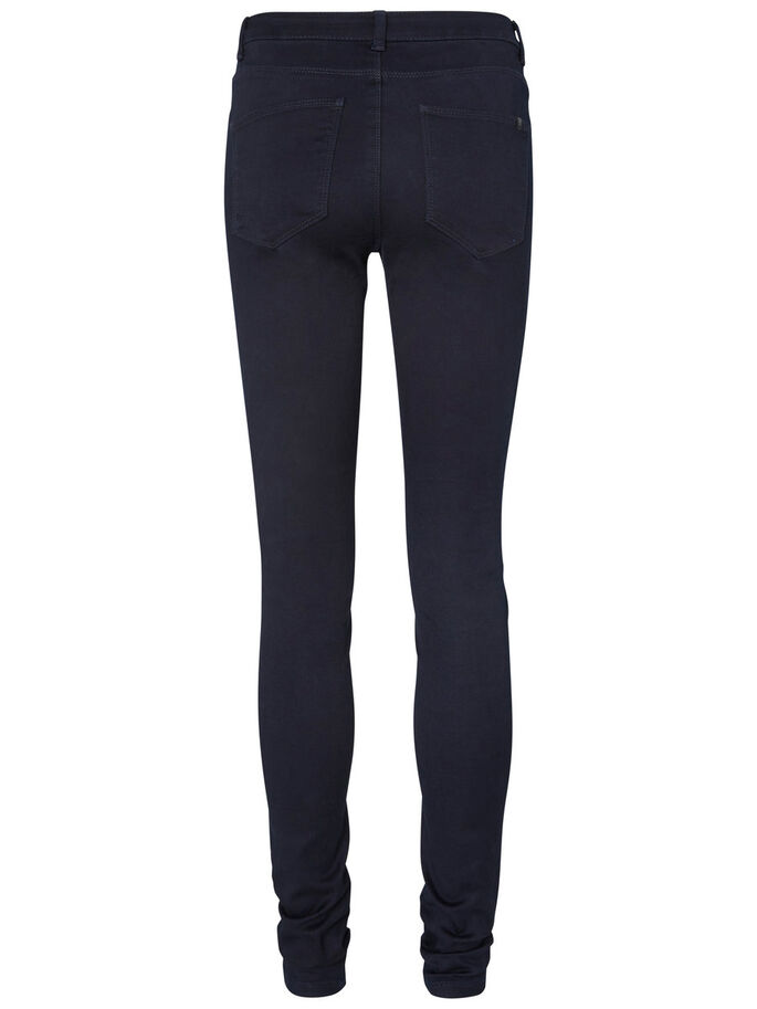 LUCY NW BIKER SKINNY FIT JEANS, Dark Blue Denim, large