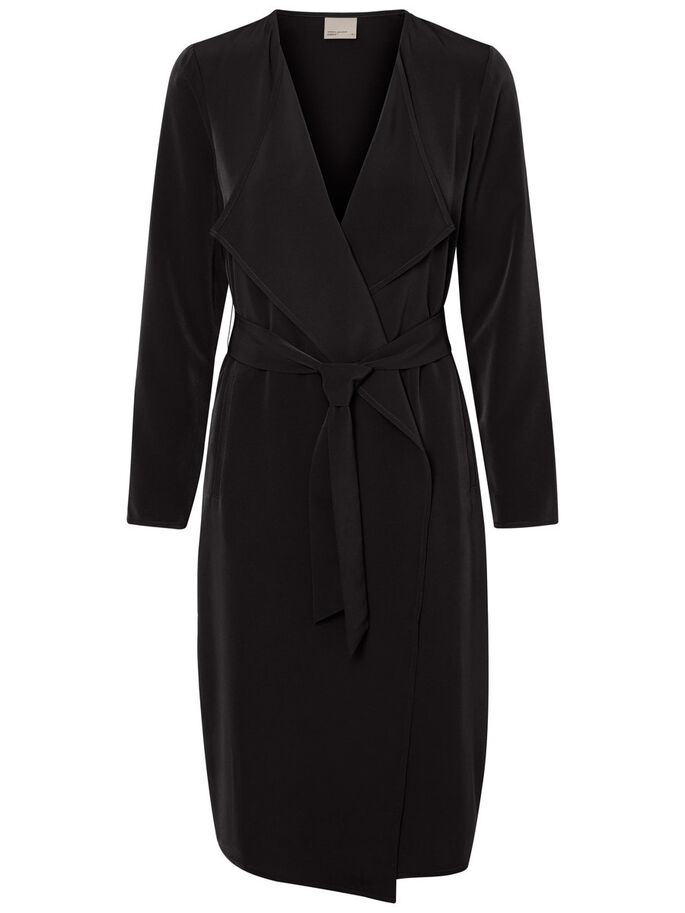 LONG BLAZER, Black, large