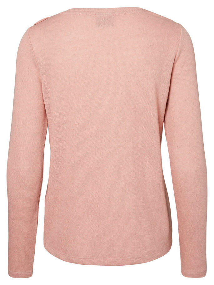 FEMININE LONG SLEEVED TOP, Ash Rose, large