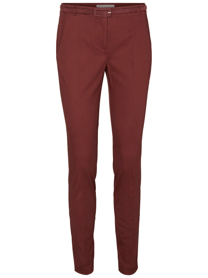 SLIM FIT TROUSERS, Decadent Chocolate, large