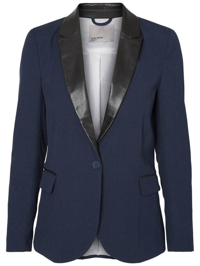 LONG SLEEVED BLAZER, Navy Blazer, large
