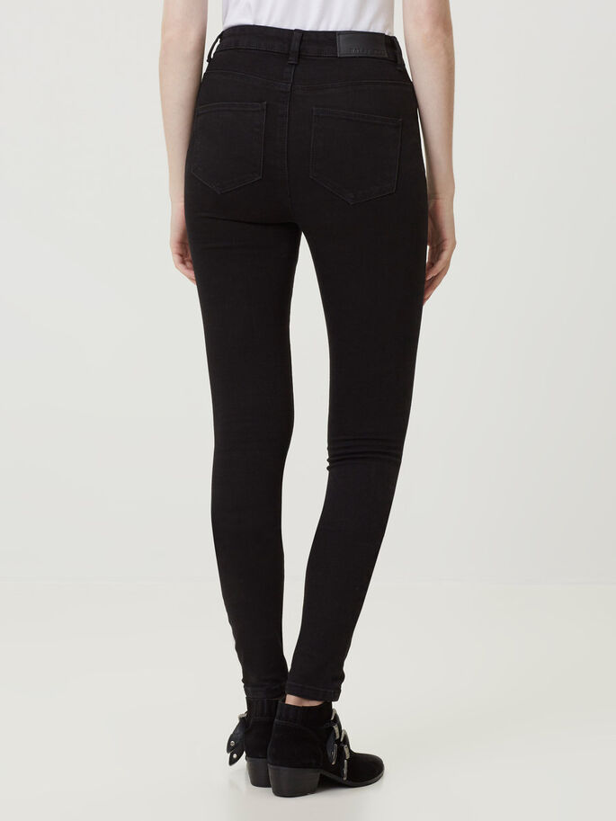 LEXI HW SKINNY FIT JEANS, Black, large