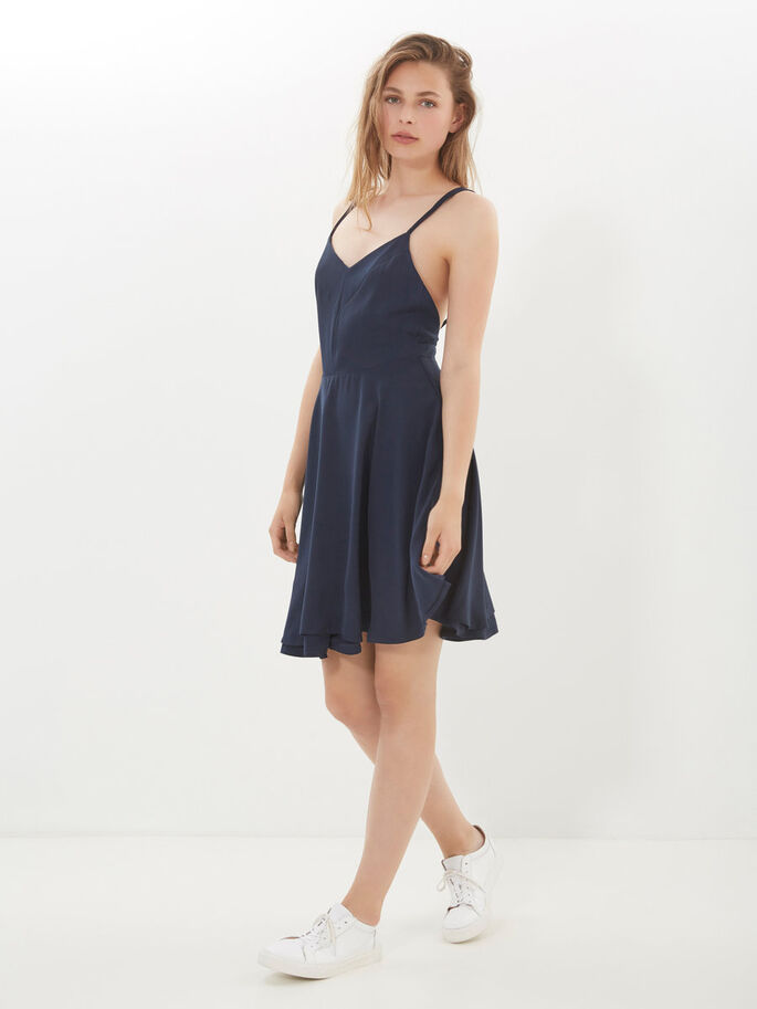 SWING SHORT DRESS, Total Eclipse, large