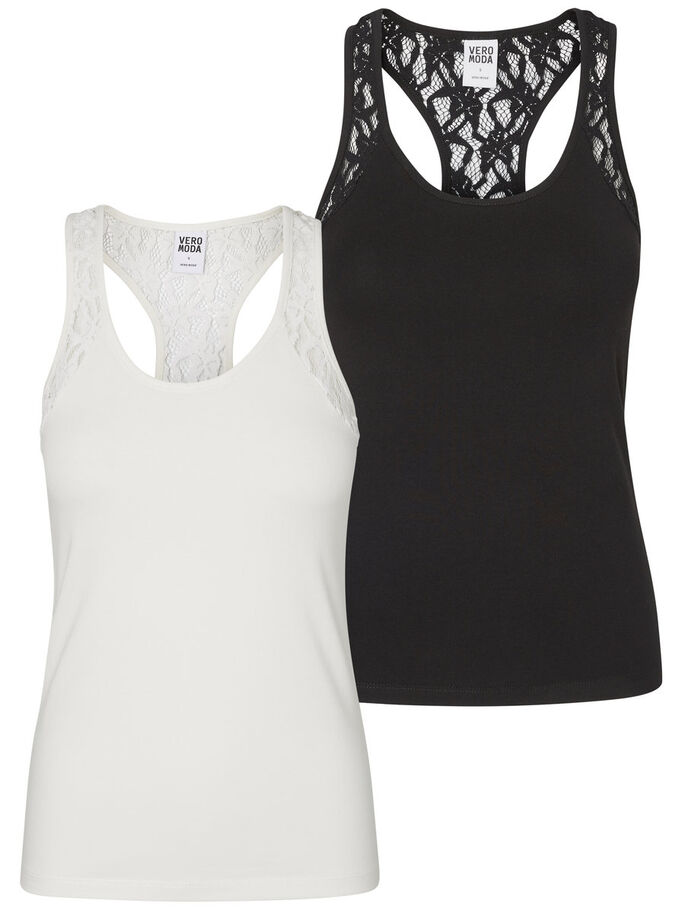 2 PACK LACE SLEEVELESS TOP, Snow White, large