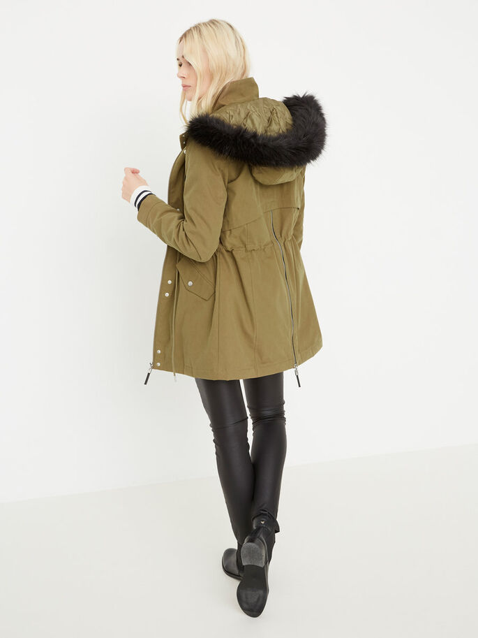 WINTER PARKA COAT, Kangaroo, large