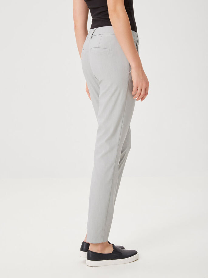 ANKLE TROUSERS, Light Grey Melange, large
