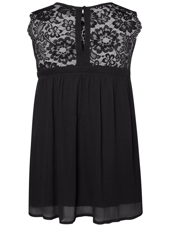 LACE SLEEVELESS TOP, Black Beauty, large