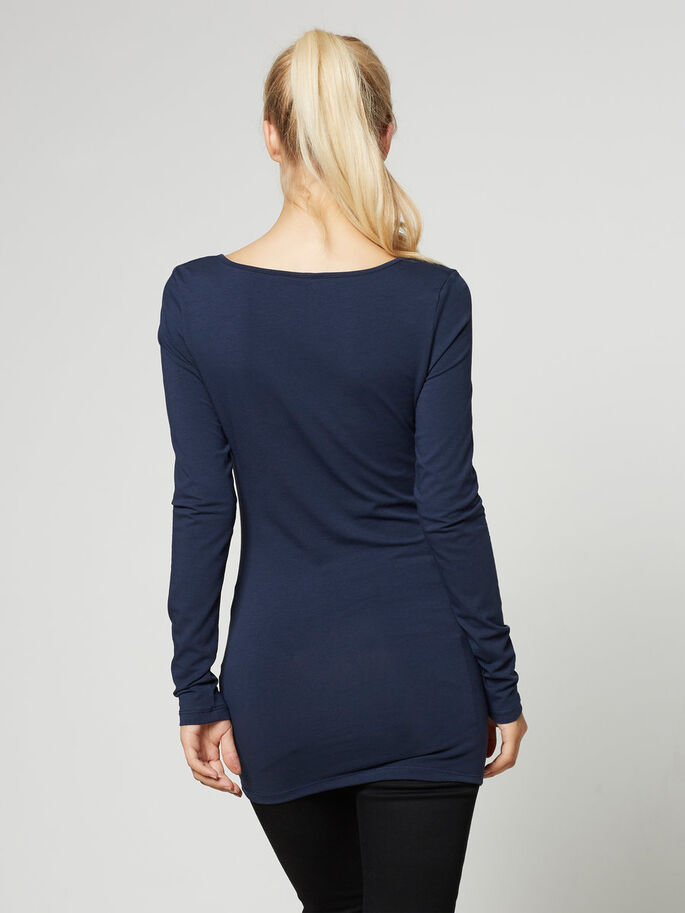 CASUAL LONG SLEEVED BLOUSE, Black Iris, large