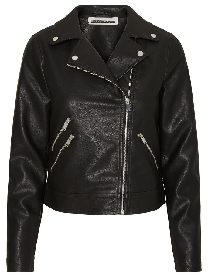 BIKER JAKKE, Black, large