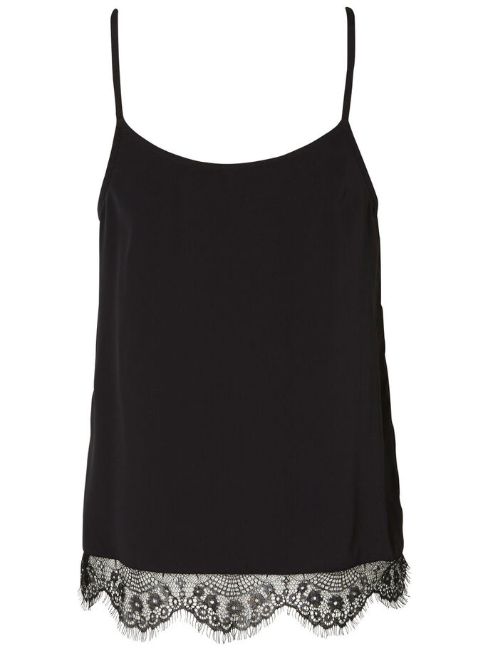 CAMI MOUWLOZE TOP, Black, large