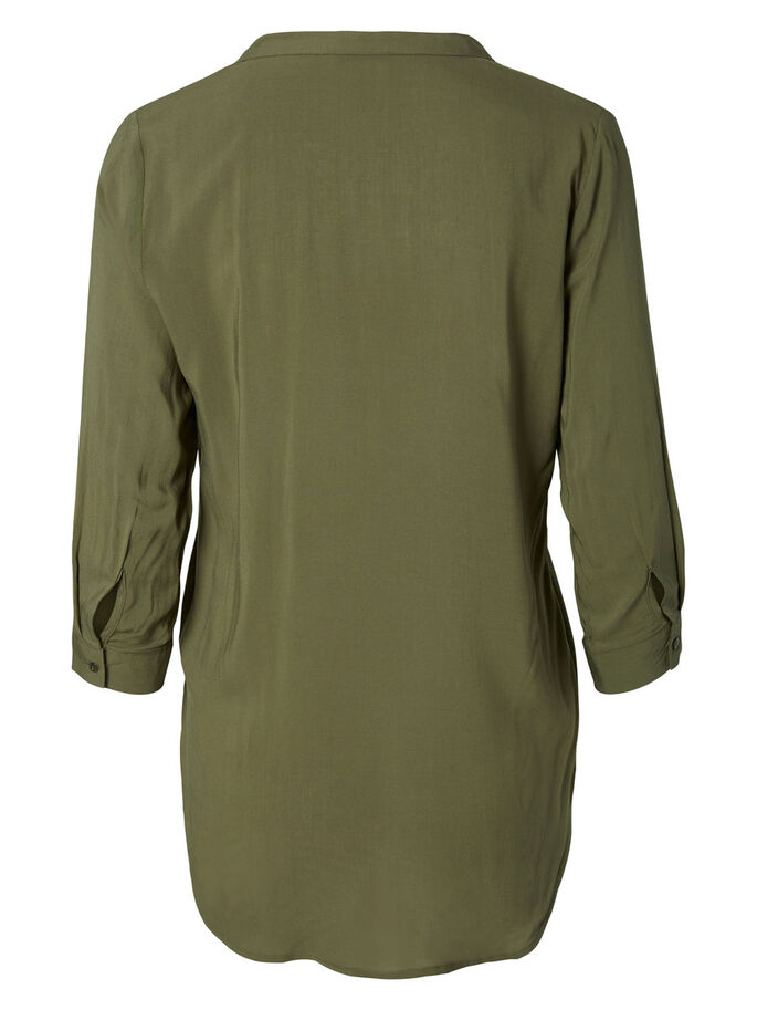 HIGH-LOW SHIRT, Ivy Green, large