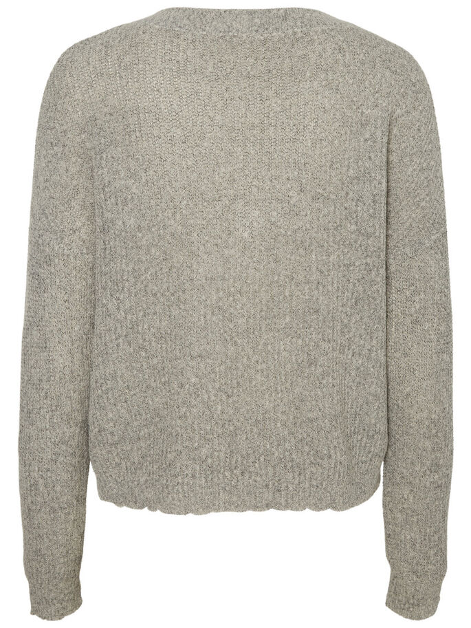 DETAILREICHER STRICKPULLOVER, Light Grey Melange, large