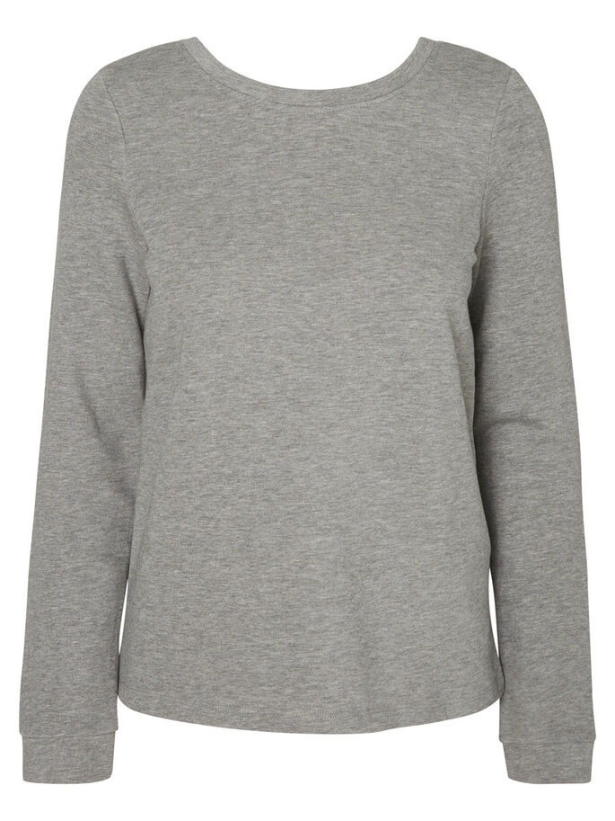 PITKÄHIHAINEN SVETARI, Light Grey Melange, large