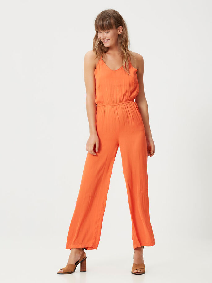 LOOSE FIT JUMPSUIT, Mandarin Red, large