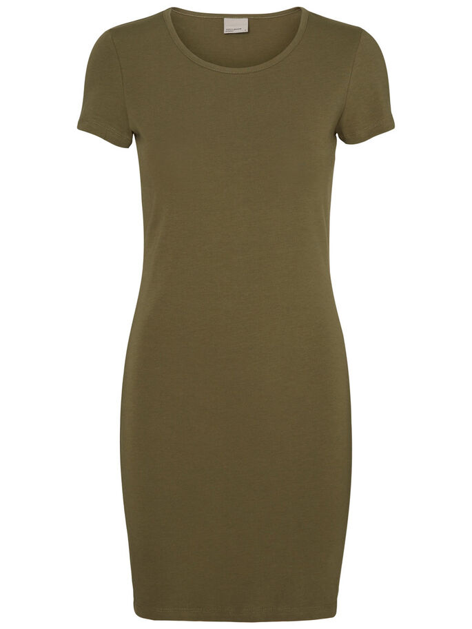 SHORT SLEEVED DRESS, Ivy Green, large